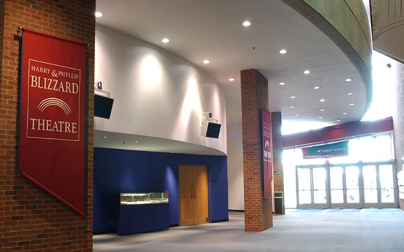 Foyer of the Blizzard Theatre in Building H